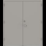 Double Steel Doors With Lock