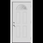 Storage Building Door With Half Moon Window