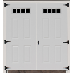 Steel Double Door with Sheds