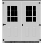 Steel Double Door Storage Building