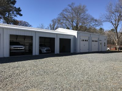 Commercial Steel Buildings with multiple bays